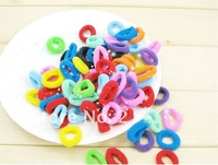 200 pieces Baby girl Kids tiny Hair accessaries Rainbow Hair bands Elastic Ties Ponytail Holder Ponies Deep Colour