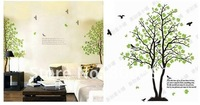 Free shipping 3rd Generation DIY Wall sticker Window Decor Stickers Wandttattoo Decals stickers, green couple tree Room Sticker