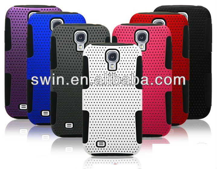 Combos Plastic Silicone case for samsung galaxy s4 case, case for galaxy s4 i9500
