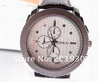 Наручные часы Cool Men Leather Band Analog Watch, New Design Wrist Watch, QW001