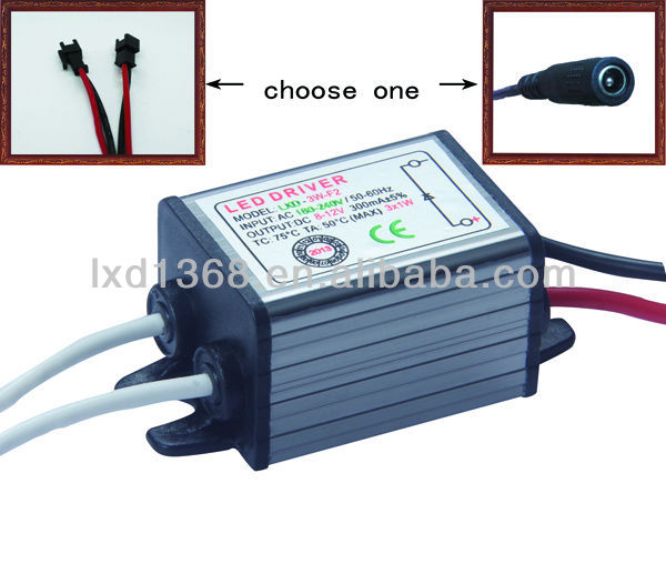 60W waterproof constant current led transformer with 300mA 350mA 450mA 600mA 700mA 900mA