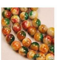 "8MM Brazilian Jade Gemstone Round Loose Beads 15"""
