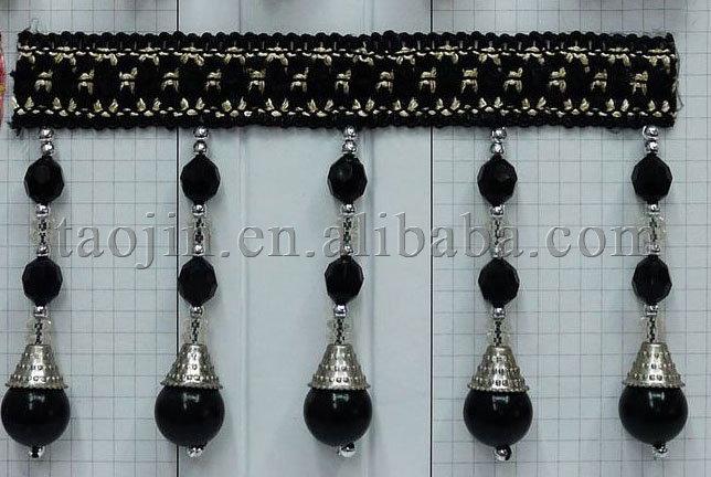 Lila perlen handgefertigt vorhang perle schneidet fransen, perle ...