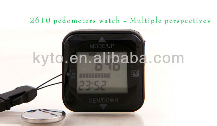KYTO pedometer with healthcare software /3D USB pedometer
