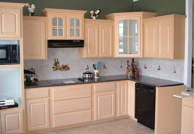 2015 American style PVC kitchen cabinet design with high quality and