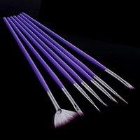 Кисточки для рисования на ногтях Nail art brush 5sets/lot, 7PCS Dotting , H4569