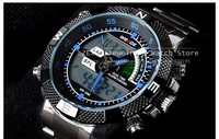 Fashion Brand Weide Digital LED and Analog Quartz Sports Watches For Men Full Steel Watch Diver Military Watch 30M Waterproof