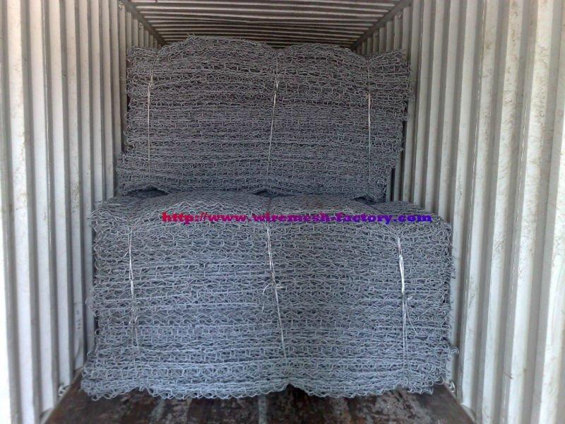 PVC coated /Galvanzied gabion box mesh(factory price)
