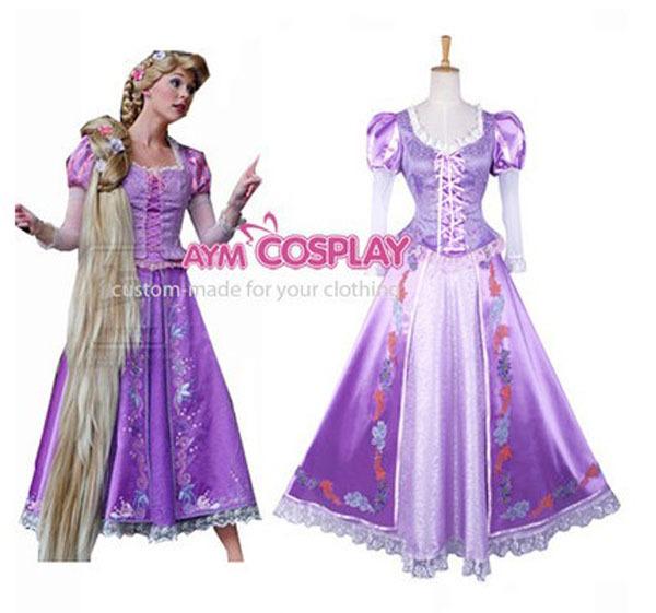 Nueva llegada de la princesa Rapunzel Dress película traje Cosplay ...