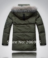 Free shipping 2012 new men long Down coat /brand design down jacket drop shipping