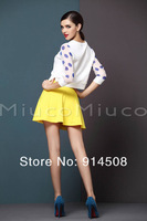 Женский костюм с юбкой 2013 autumn new Europe and America big brands Women suits Star type Polka Dot long-sleeved shirt + Skirts Women clothing h681