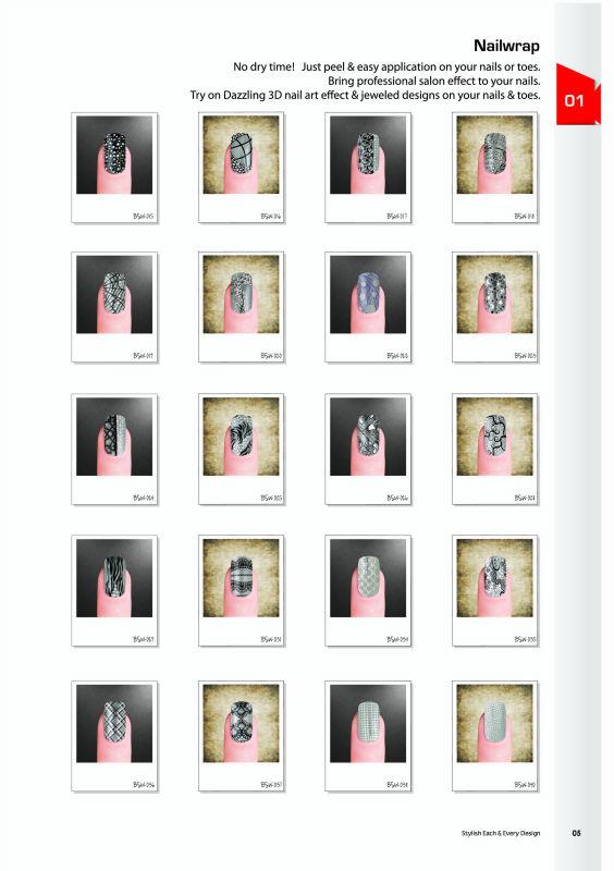 300+ design custom made nail wraps
