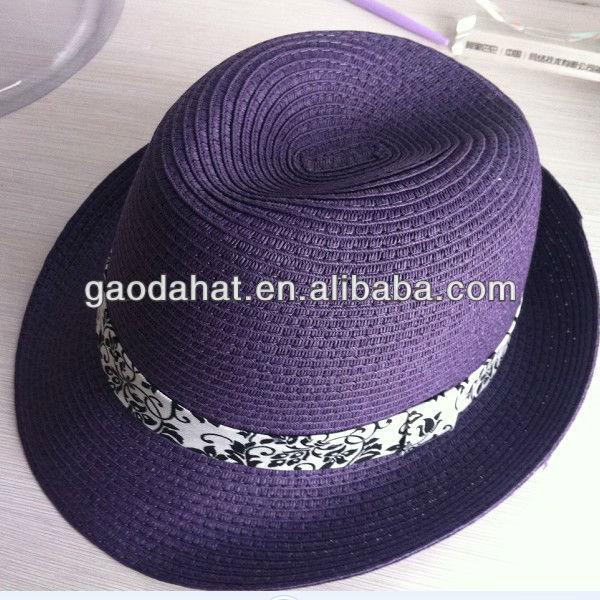 Paper Fedora straw hat,Paper straw hat,Paper hat