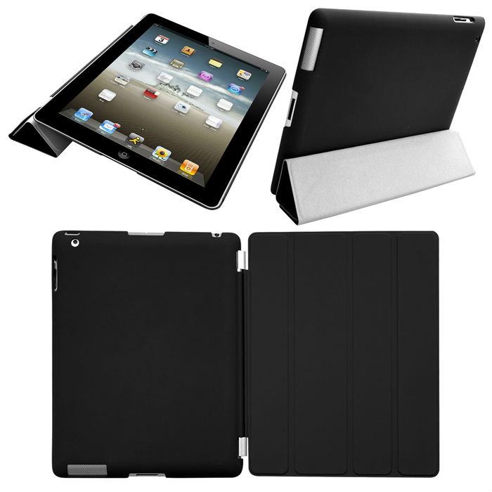 Wholesale smart cover for ipad ipad2/3/4 include back cover
