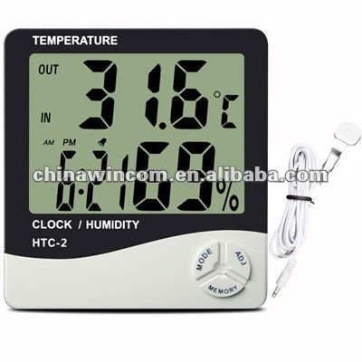 THERMOHYGROMETER HTC-1(INDOOR)/HTC-2(INDOOR AND OUTDOOR)