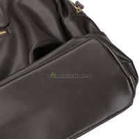 Спортивная сумка W7Tn Men Casual Coffee Faux Leather Shoulder Bag Handbag Sports Duffle Tote
