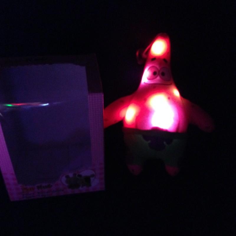 LED glow plush toys cartoon Patrick Star 18 cm – Wholesale