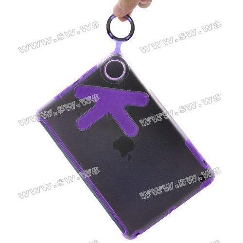 "Portable Loop Handle ""OK"" Pattern Transparent TPU Case For iPad Mini"