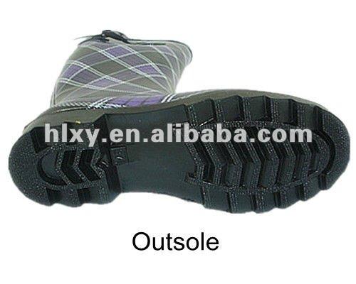 дам резиновые загрузки с печатью супер ботинки