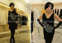 shanghaimagicbox женщин Пу кожа вечер над wglv022 черные длинные перчатки без пальцев локтя