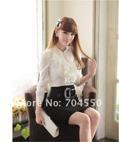 Женские блузки и Рубашки New Fashion formal lady's shirts / blouse for woman long sleeve best selling