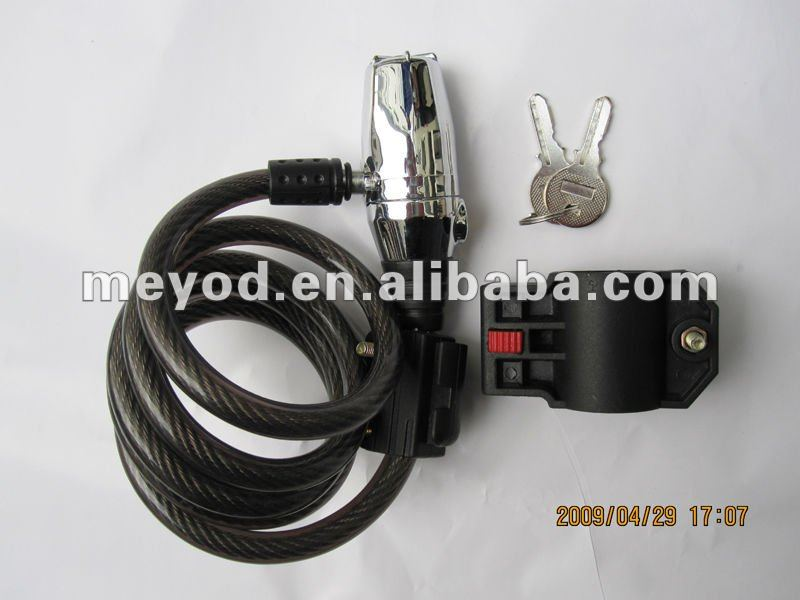 Alarm bicycle cable lock ,bicycle alarm lock,bike alarm lock