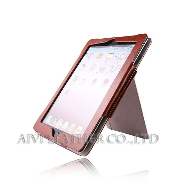 book style leather case cover for ipad Mini 2