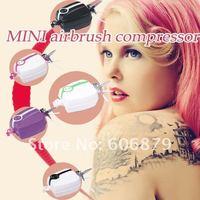 Товары для макияжа Portable Make Up Airbrush System Mini Air Compressor 5 Speed Airbrush tattoos 24 hours Continus Working