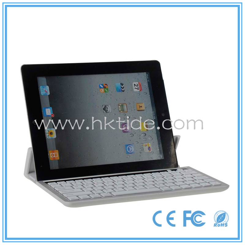 Gtide aluminum bluetooth wireless keyboard for tablet support different size tablet