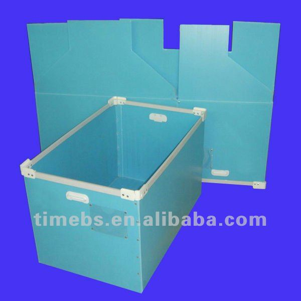 Corrugated plastic storage box