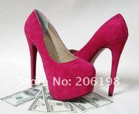 Жёлтый нарцисс Розовый 160 мм высокой платформе платье женщин обувь