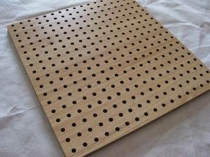 M lamine mdf finition en bois perfor acoustique panneau low prix panneaux in - Panneau perfore isorel ...