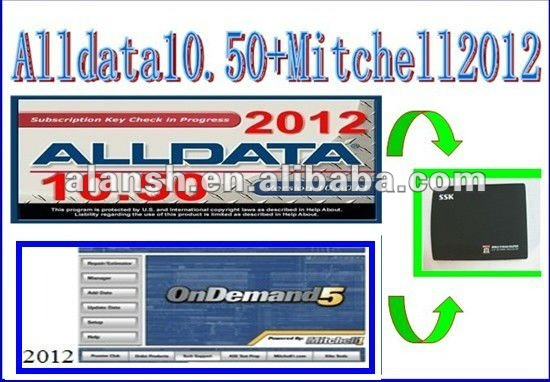 Alldata 10.50 and Mitchell Auto repair software of 2012 New Arrival