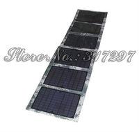 5 шт/много 60w/18v складной солнечной панели + Солнечный контроллер + крокодил 12v аккумулятор + 10 разъемы зарядки ноутбук