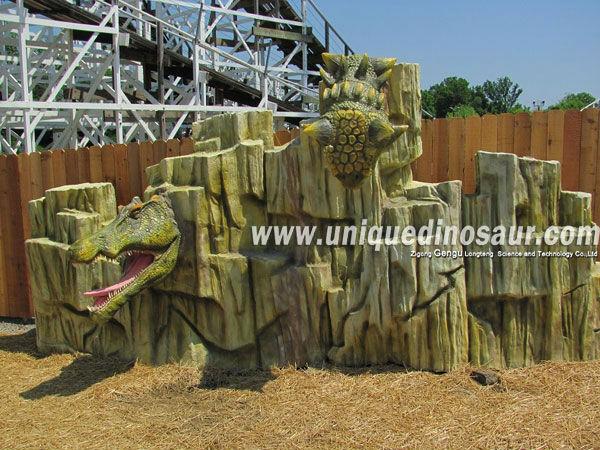 Customize Dino Park Fiberglass Dinosaur Rockery .jpg