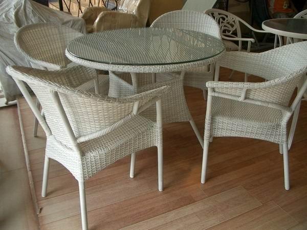mobiliario de jardim em rattan sintetico:de vime ao ar livre mobiliário conjunto YPS025-Conjuntos de jardim