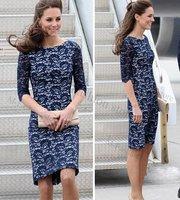 Женское платье New Elegant Lace Dress Lady Skirt Women's fashion Short Sleeve Dress