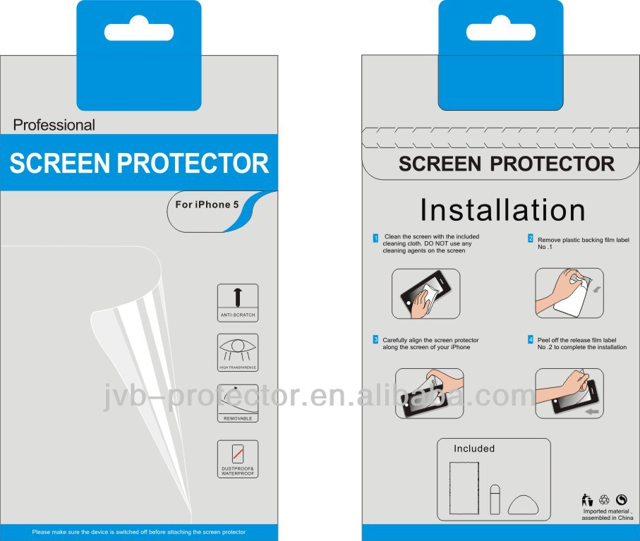 ultra-clear anti-fingerprint screen protector with design