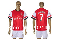 Спортивная майка Factory price! 12/13 Arsenal home red thai quality soccer football jersey+shorts kits, size:S/M/L/XL