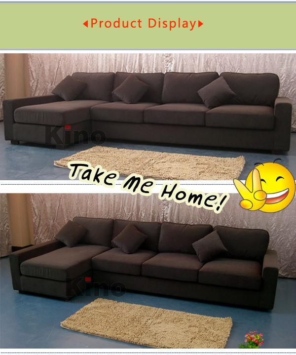 Moderne tissu canap en forme de l coin canap dans le salon meubles pas cher canap ensemble Utilisation de tissus dans le salon