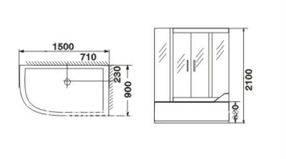 2012 di grandi dimensioni vasca da bagno doccia combinata doccia id prodotto 587808514 italian - Dimensioni standard vasca da bagno ...