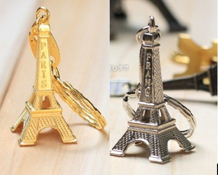 Wholesale Free Shipping/Creative vintage Eiffel Tower keychain/metal keychain/great gift/   z3
