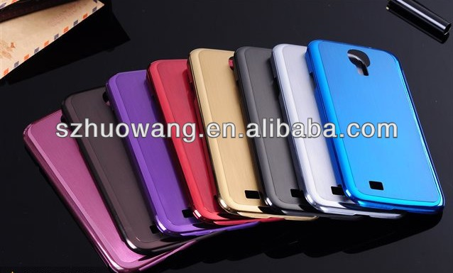 Luxury thin brushed metal back aluminum case for samsung i9295 galaxy s4 active