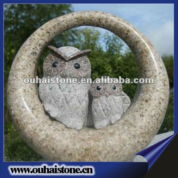 Natural Handmade Carving Granite Animal Stone Eagle Sculptures