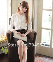 New Fashion formal lady's shirts / blouse for woman long sleeve best selling Free shipping
