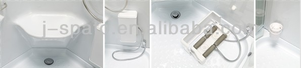 Freestanding Shower Stall with Foot Massage and FM Radio JS-842