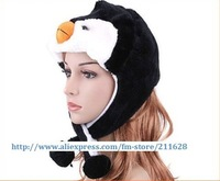 Small cartoon Penguin plush Hat FREE SHIPPING