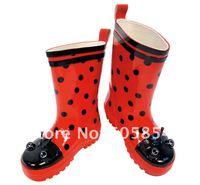 Free Shipping wholesale high quality lovey ladybug baby raincoat /rain coat children/thick pvc raincoat