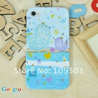Чехол для для мобильных телефонов Goegtu Heart Color Series hard case Plastic Case for iphone 4g 4s with retail pack