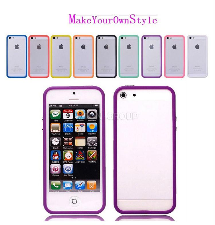 For TPU bumper iphone5,ultra thin phone case bumper for iphone 5